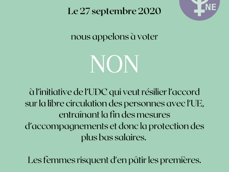 Votations du 27 septembre : initiative de l'UDC