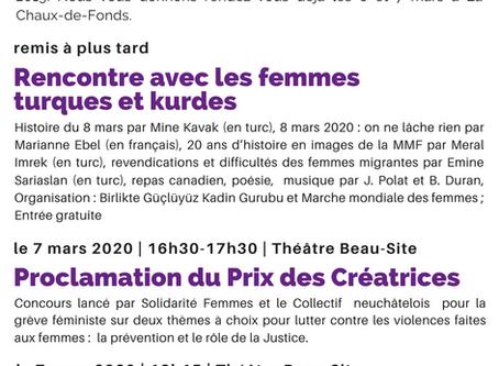 Les 6 et 7 mars 2020 à La Chaux-de-Fonds