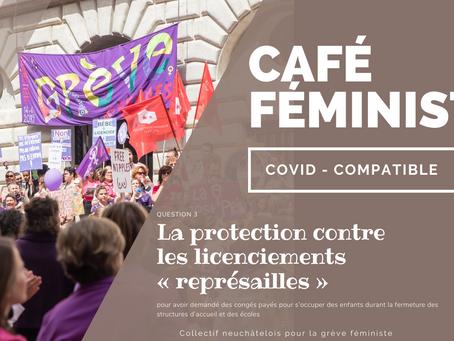 """Café féministe - question 3/6 - congé """"représailles"""""""
