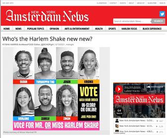Amsterdam News article for Harlem Shake NYC