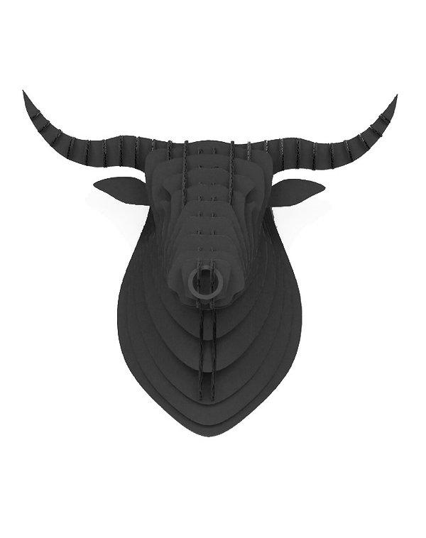 Cardboard Bull Black 2