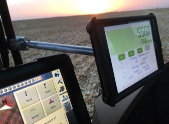 Trimble FMX and iPad Mini in JD tractor
