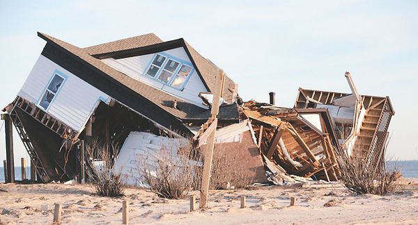 Dommages causés par l'ouragan