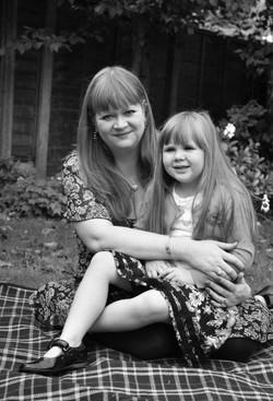 Portrait of mum and daughter