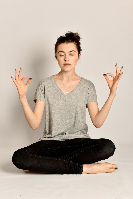 Yoga portrait