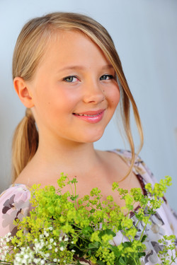 Natural light portrait of a girl