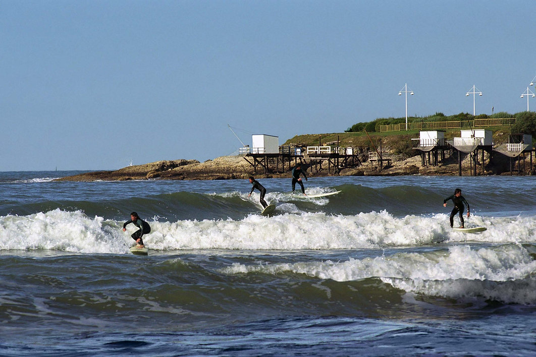Surfing in Royan