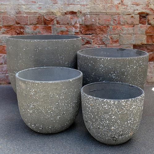 """""""Terrazzo"""" Egg Concrete Pot"""