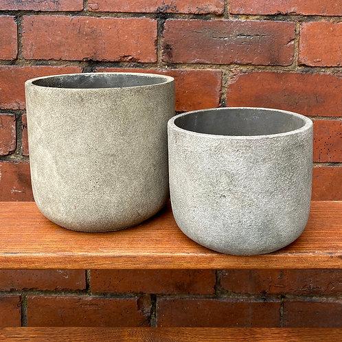 Off-White Concrete Pot