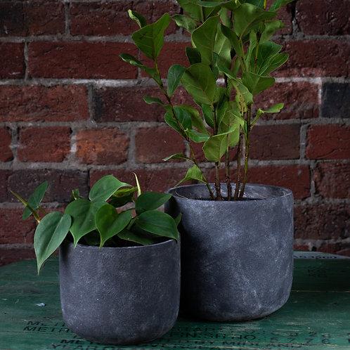 Charcoal Concrete Pot