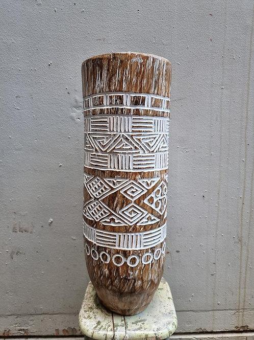 Tall Christina Carved Vase