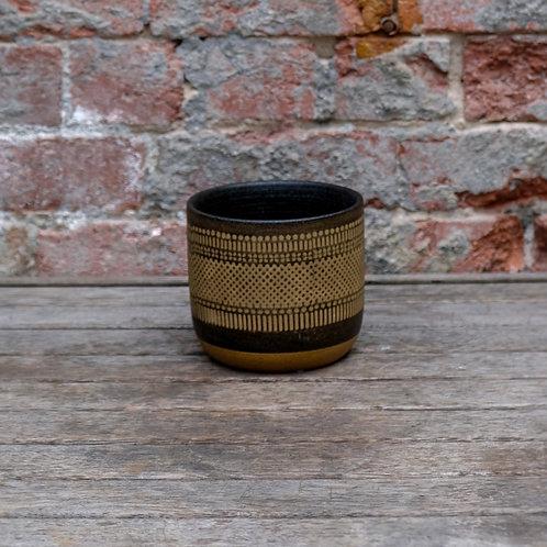 Black 'Boho' Ceramic Pot - Small