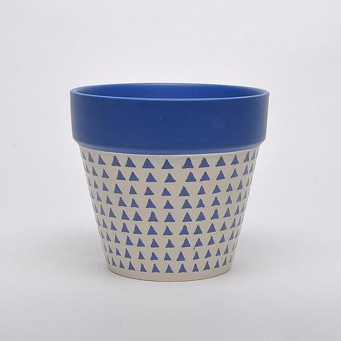 Blue Painted Terracotta Pot 20cm