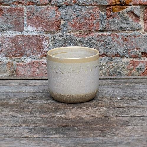 White Vintage Ceramic Pot