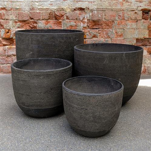 """""""Cottage"""" Grey Egg Concrete Pot"""