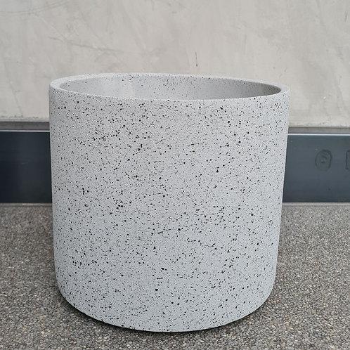 Grey Speckled Concrete Cylinder Pot