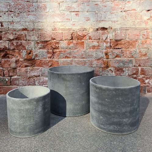 Original  Cement  Cylinder Pot