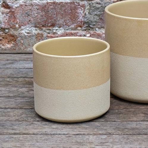 Vanilla Two-Toned Ceramic Pot 14cm