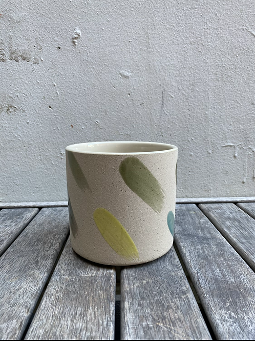 Small Diagonal Striped Pot