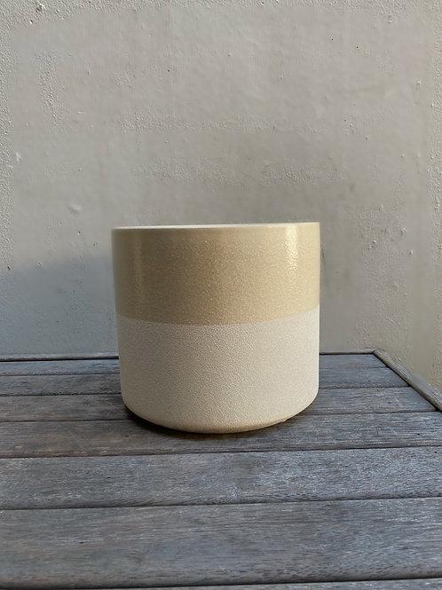Tan Dual-Tone 22cm Pot