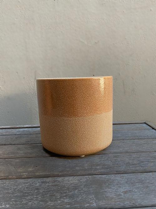 Mocha Ceramic Two-Toned Pot