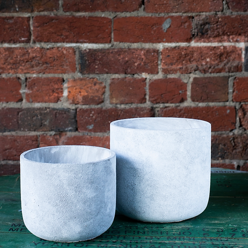 White Concrete Pot
