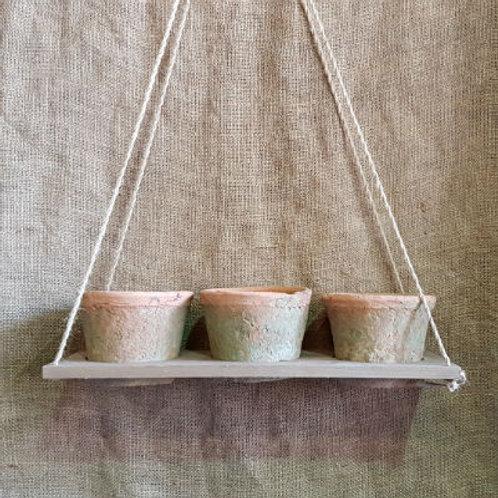 Hanging Antiqued Cactus Planters Redstone