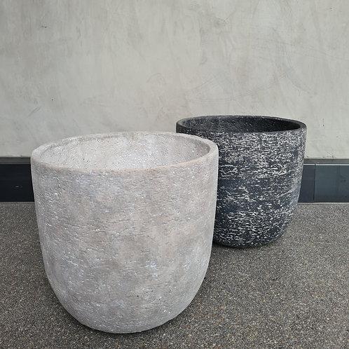 Coral Concrete Egg Pot