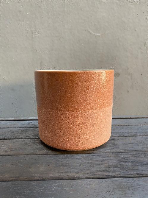 Blush Ceramic Dual-Toned Pot