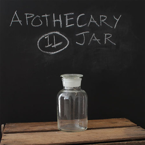 Apothecary Bottle (Clear, Wide Mouth)