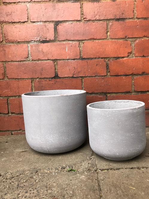 Light Grey Tapered Concrete Pot