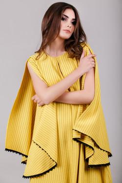 sleeve slits dress