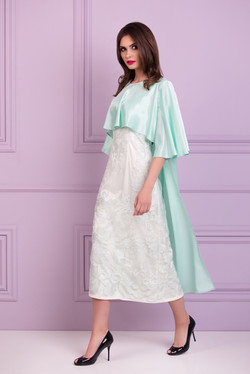 dress with cape