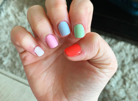 Multi-Color Spring Nails | DIY Manicure Essentials
