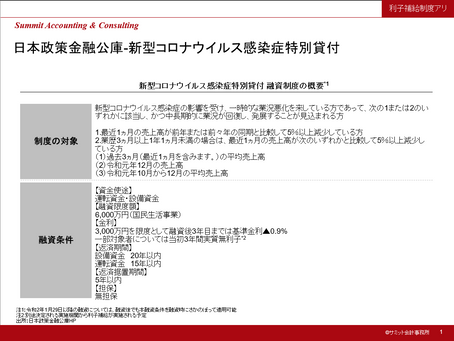 日本政策金融公庫 新型コロナウイルス感染症特別貸付のご紹介