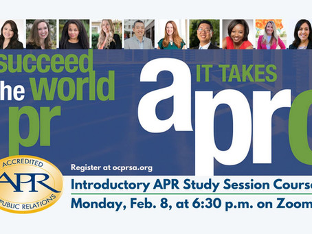 Join RockSpark CEO Robin Rockey at OCPRSA's Introductory APR Study Session Course