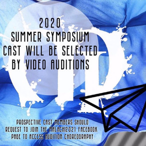 Audition Video Due Date is COMING!!!