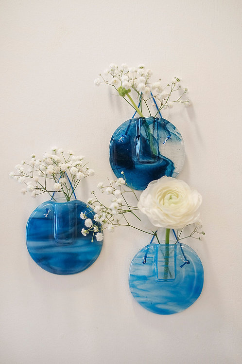Trio Soliflores/Vases muraux