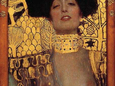 צעיף עם סיפור: גיבורות תנכיות, יהודית והולופרנס של גוסטב קלימט (Judith I&II ).