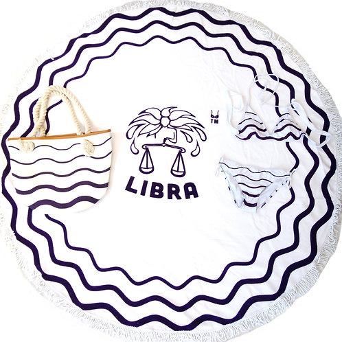 Horoscope set: Round beach towel+bag+bikini