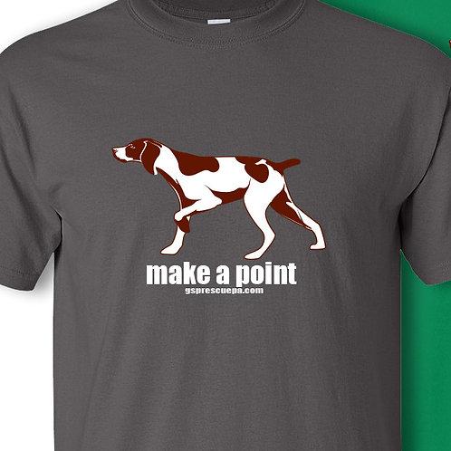 Make A Point T-shirt, short sleeve