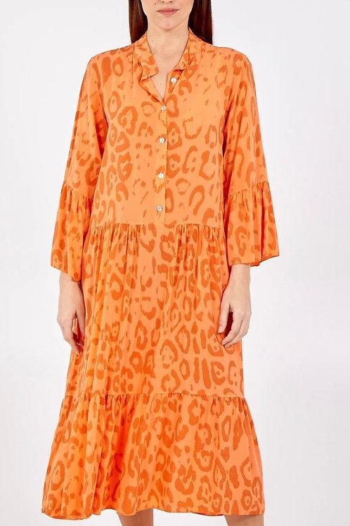 Leopard Smock Maxi Dress