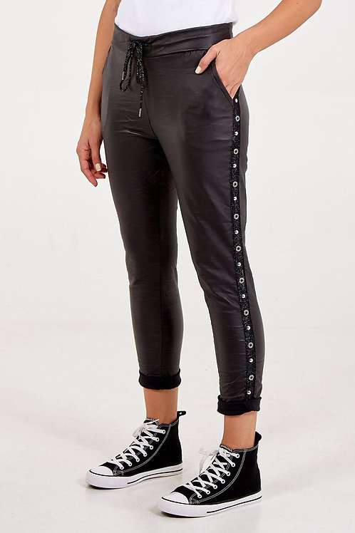 Magic Super Stretch PU Studded Trousers