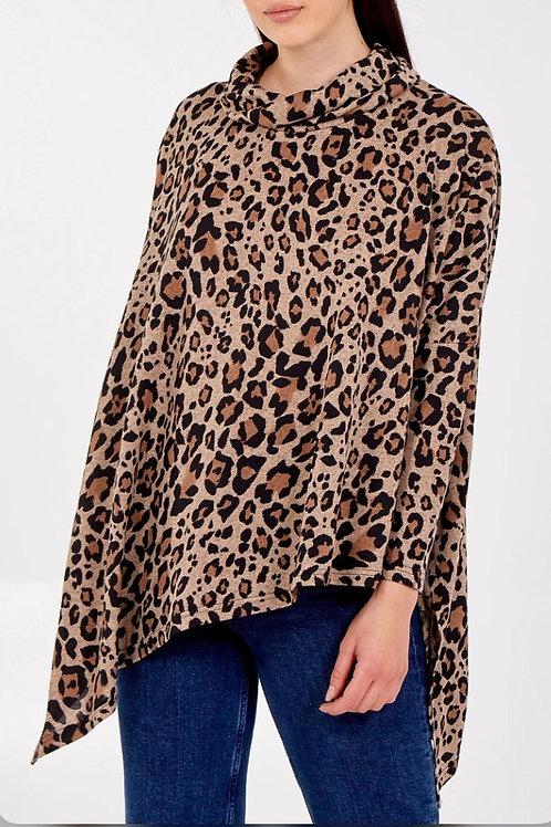 Leopard print Asymmetric Hem