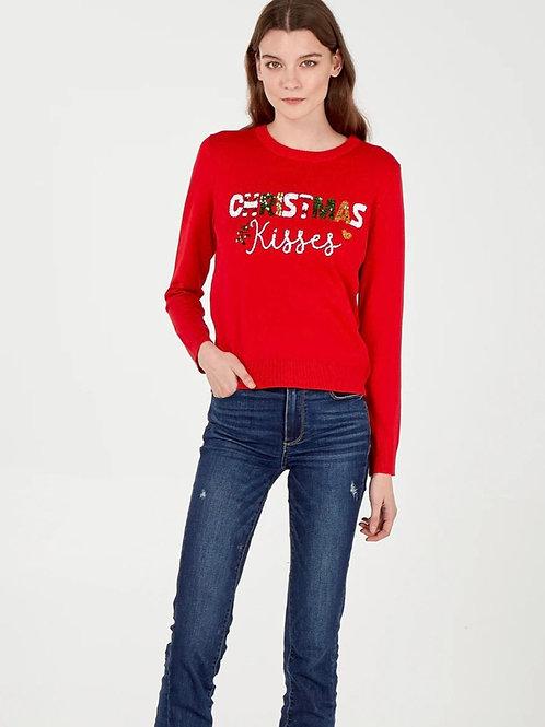 Christmas Kisses Sequin Jumper