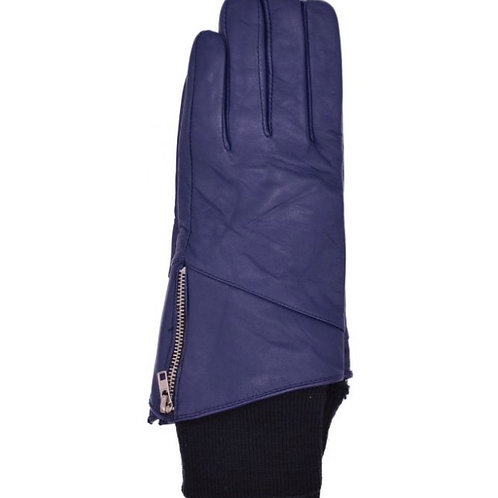 Womens Leather Gloves With Knitted Cuffs