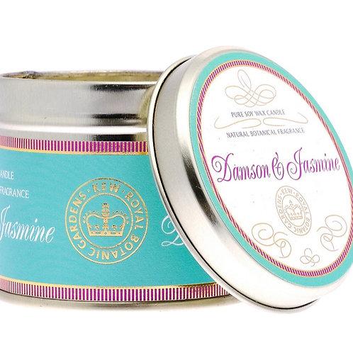 Royal Kew Damson & Jasmine Tin Candle