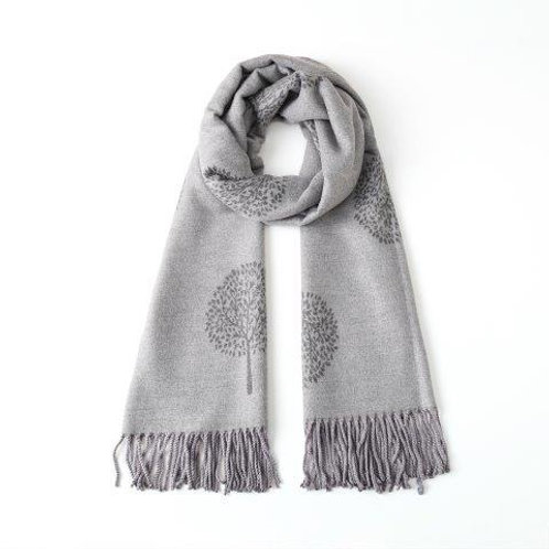 Reversible Tree of Life Cashmere Mix Scarf