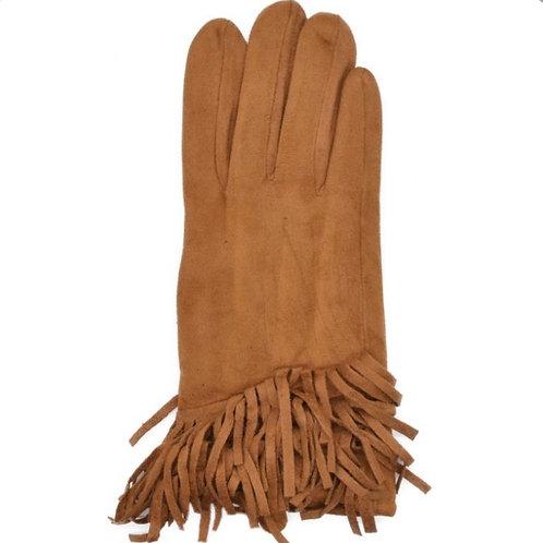 Faux Suede Tassle Gloves