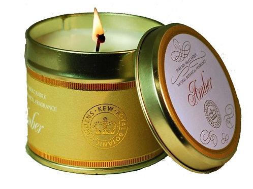Royal Kew Amber Tin Candle